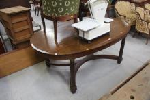 French oval dining table, approx 77cm H x 180cm W x 114cm D
