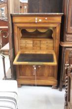 Antique French Louis Philippe secretaire, approx 150cm H x 90cm W x 45cm D