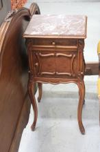 French Louis XV style nightstand, approx 81cm H
