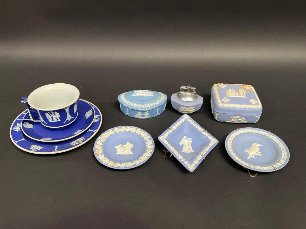 Good selection of Wedgwood jasper ware (9)