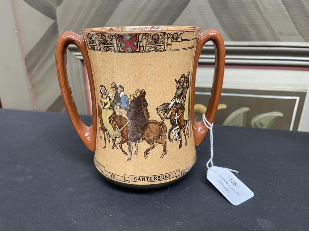 "Royal Doulton ""Ye Canterbury Pilgrams"" loving mug, approx 14.5cm H"