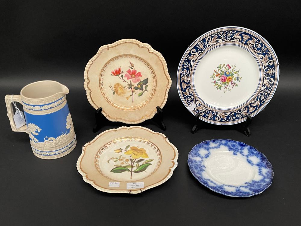 Selection of antique and later plates including a Copeland Spode jug, approx 18cm H and smaller