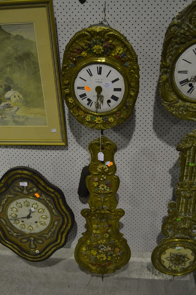 Antique French Comtoise Clock Movement
