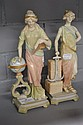 Pair of Austrian figures, approx 26cm tall