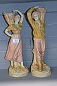 Pair of Royal Dux figure Harvest, approx 42cm tall
