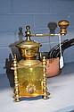 Impressive French brass coffee grinder