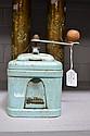 Vintage French Meams blue enamel coffee grinder
