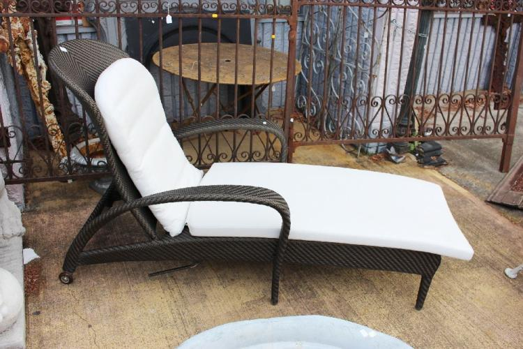 lot 1165 dedon tango design reclining garden lounge chair by richard
