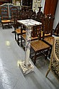 Antique French marble column. H: 107cm