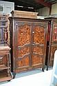 Antique 19th century French oak & walnut two door