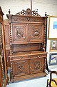 Antique French carved oak two height buffet. H: