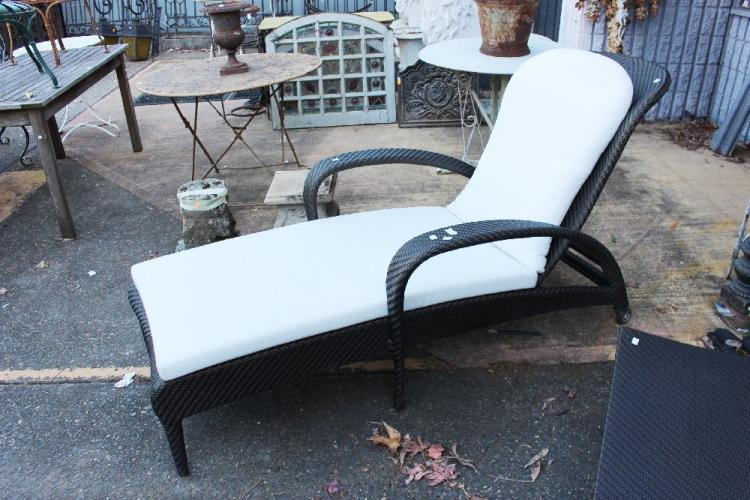 lot 1038 dedon tango design reclining garden lounge chair by richard
