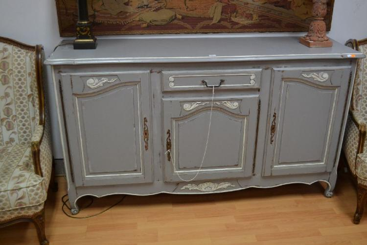 Vintage french painted enfilade buffet approx 102cm h x 180 - Buffet enfilade vintage ...