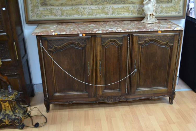 antique french marble topped enfilade buffet approx 101cm h. Black Bedroom Furniture Sets. Home Design Ideas