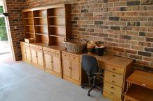 Open bookcase, desk and side board by Jackson furniture