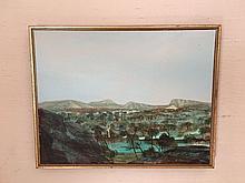 Ray Austin Crooke (1922-2015) Australia, Northern Australia river landscape, signed lower right, approx 14.5 cm x 18.5 cm