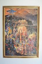 Putu Ngurah Wardhana (1933-) Indonesia, oil on board, dated 1970, approx 87.5 cm x 60 cm wide