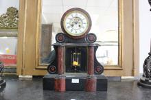 French Napoleon III clock, approx 46cm H x 38cm W