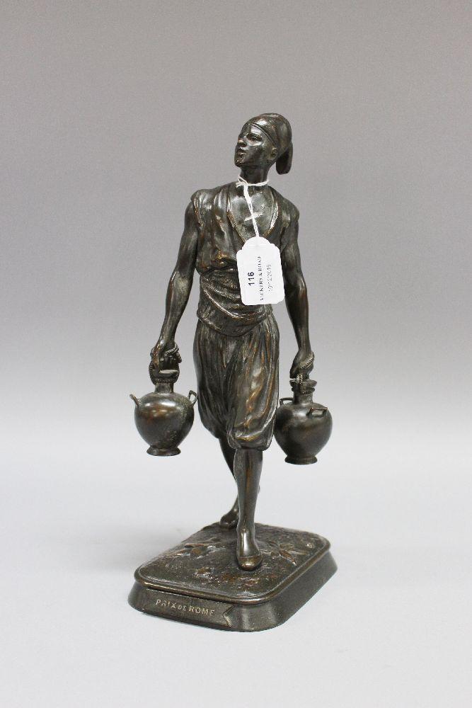 marcel debut prix de rome patined bronze statue of a cairo. Black Bedroom Furniture Sets. Home Design Ideas