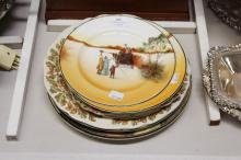 Collection of Royal Doulton cabinet plates, series ware to include Coaching Days, approx 27cm dia & smaller
