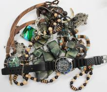 Assortment of costume jewellery