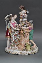 Large Antique 19th century German porcelain