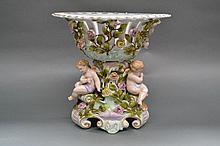 Antique German porcelain figural centre piece,