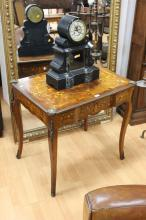 Rare Maurice Wimphen & Fils of Paris, floral marquetry single salon table, fitted with bronze mounts. Approx 75cm H X 80cm W X 58cm D
