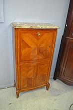 Fine French kingwood marble topped cabinet
