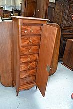 Pretty French mahogany seminier fitted with seven