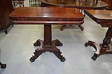 Antique early 19th century rosewood fold over tea