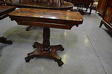 Antique mahogany card table, mid 19th century