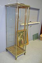 Vintage nickel plated shop display cabinet