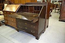 Antique 18th/19th century oak bureau