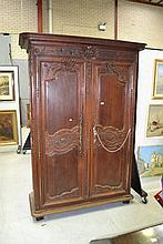 Antique 19th century French carved oak Normandy