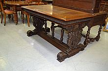 Antique French carved walnut Renaissance style