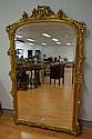 Antique 19th century French gilt surround mirror