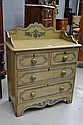 Antique 19th century English painted pine chest of