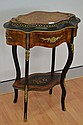 Antique French Nap III Parquetry planter stand,
