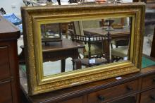 Vintage framed mirror, approx 48cm x 77cm