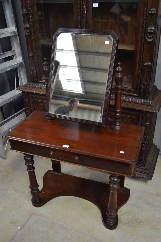 Antique mahogany dressing table approx 131cm h x 90cm w x 4 for 90cm dressing table