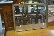 Gilt framed mirror, approx 61cm x 45cm