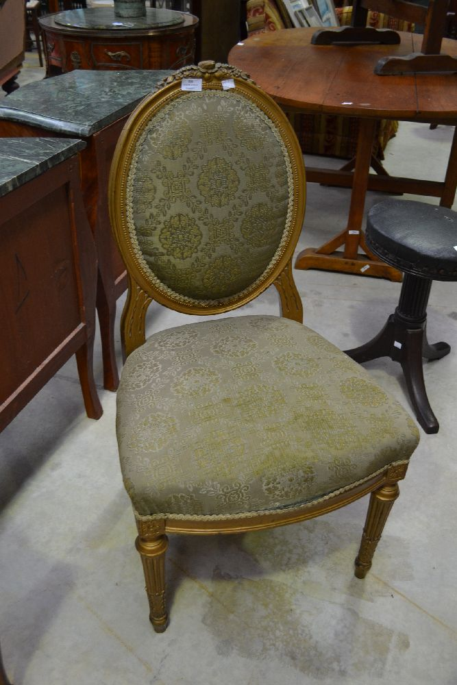lot 538 french salon chair green upholstery