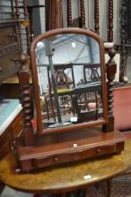 Cedar toilet mirror, approx 83cm H x 70cm W