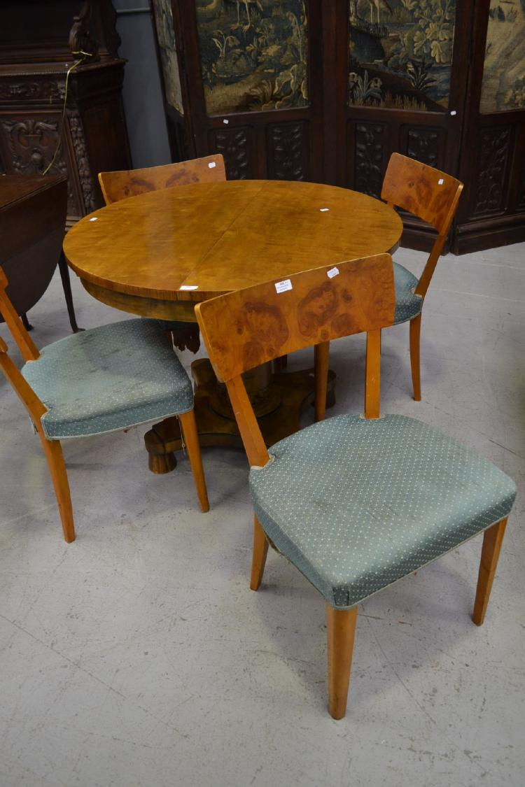Set of four swedish biedermeier style dining chairs 4 for Swedish style dining chairs