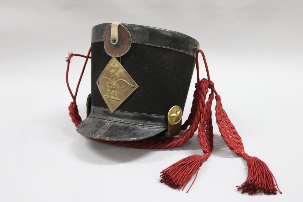 Antique French early 19th century Napoleonic war period Shako