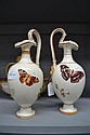 Pair of ceramic ewers decorated in butterflies,
