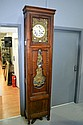 Anrique French cherywood comtoise clock, 237 cm