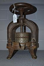 Antique French Duck press, approx 28cm H
