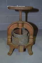 French antique duck press, approx 29cm H